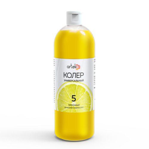 Универсальный колер Arteko, цвет лимонный, 1л